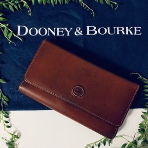 Dooney & Bourke Vtg. Leather Wallet Organizer EUC